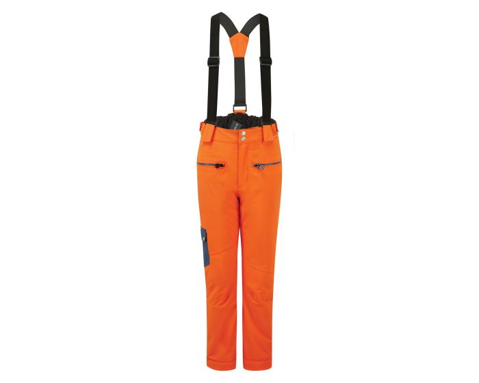 Kids Timeout Ii Waterproof Insulated Ski Pants Blaze Orange Dark Denim