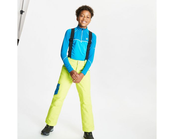 Kids Timeout Ii Waterproof Insulated Ski Pants Lime Punch Petrol Blue