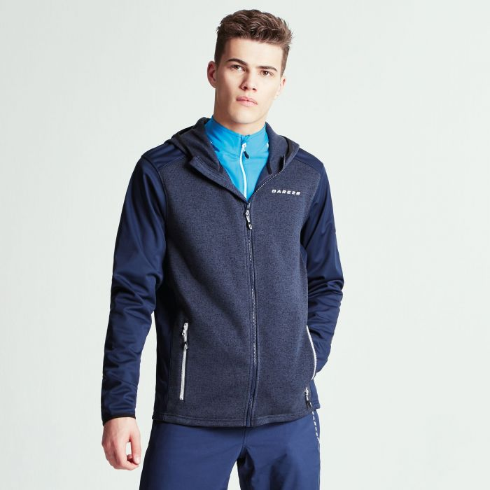 Men's Igneous Softshell Hybrid Hoodie Outerspace Blue Marl