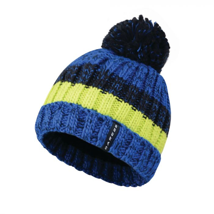 Men s Attempt Bobble Beanie Hat Nautical Blue Electric Lime. DMC329 47E 1 f3de10ac2b2