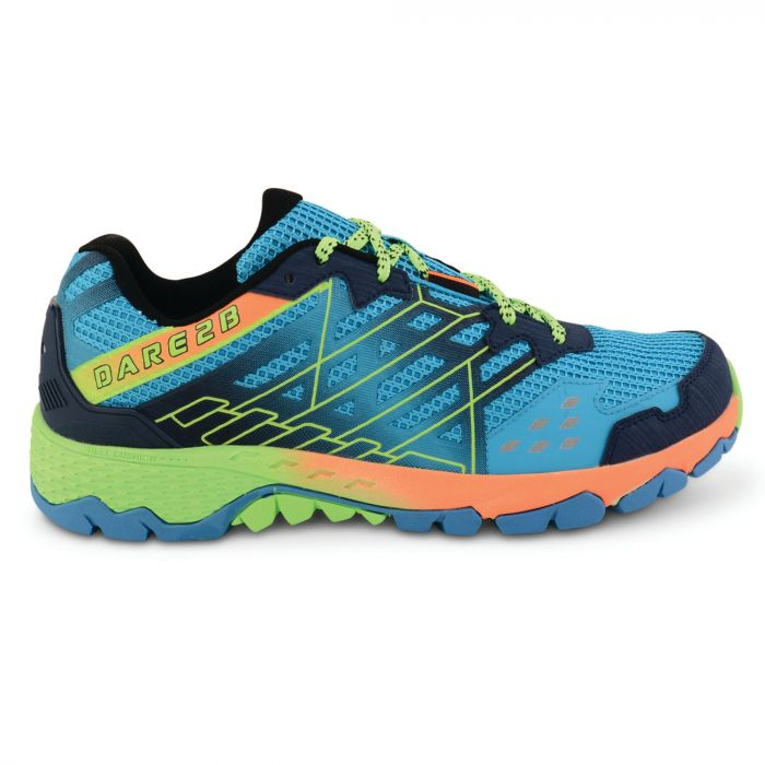 Men's Razor Trail Shoes Blue/Neon Green