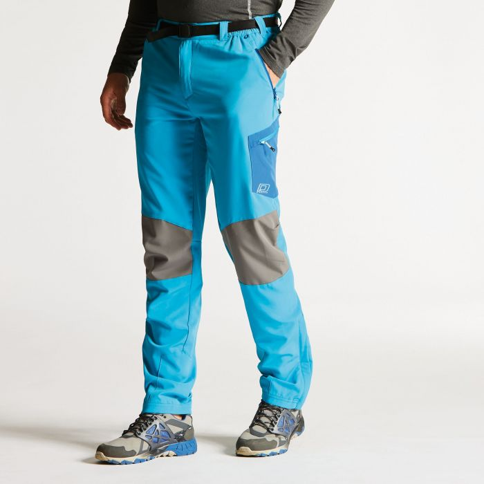 Men's Paradigm Softshell Hiking Trousers Fluro Blue