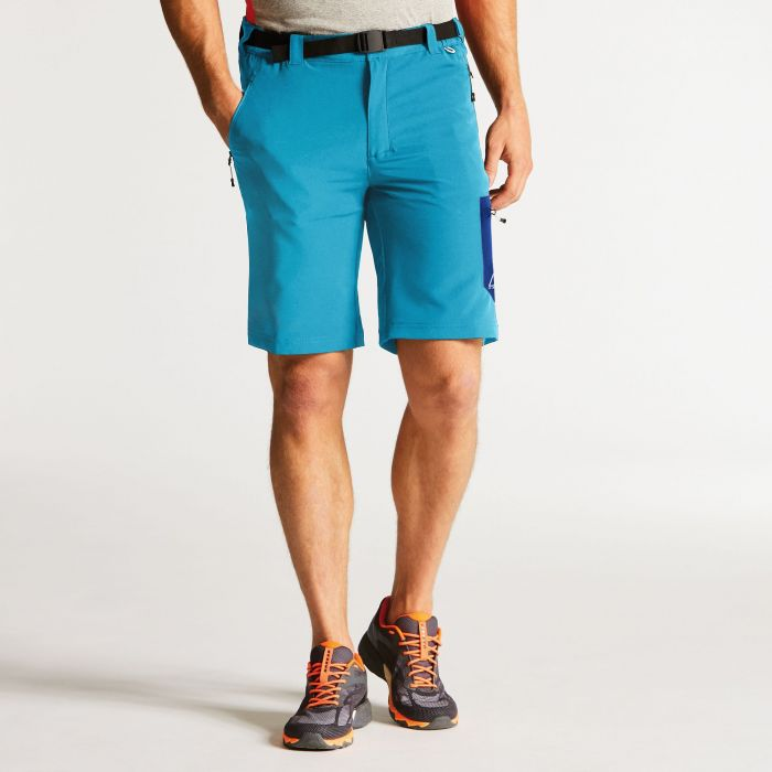 Men's Paradigm Softshell Hiking Shorts Fluro Blue
