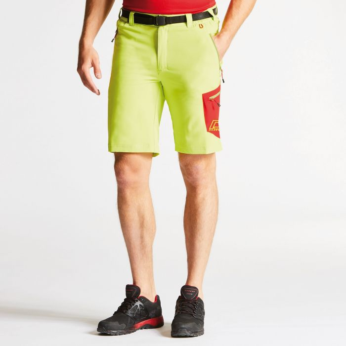 Men's Paradigm Softshell Hiking Shorts Lime Punch