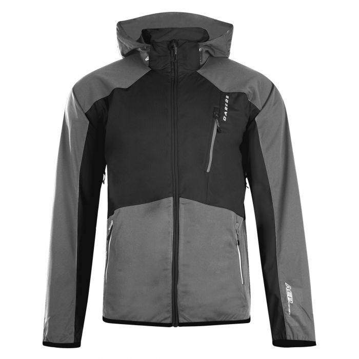 Men's Predicate Softshell Jacket Black/Charcoal Grey Marl