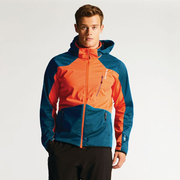 Men's Predicate Softshell Jacket Pumpkin/Kingfisher