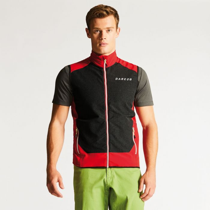 Men's Appertain Softshell Gilet Danger Red/Charcoal