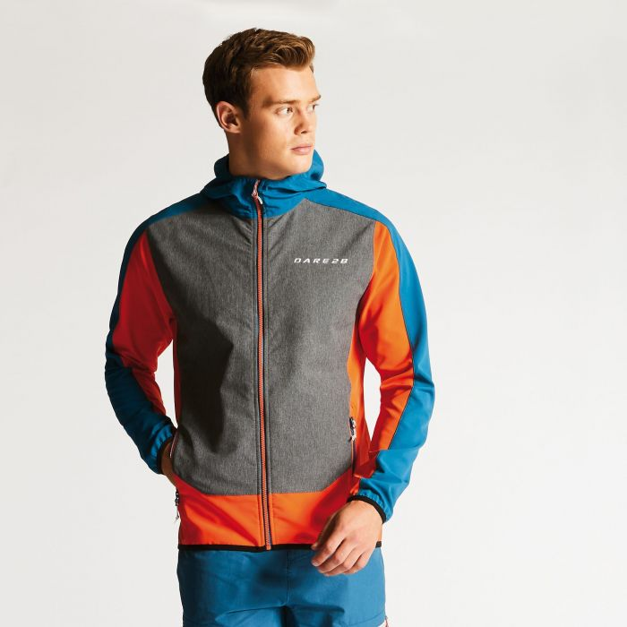 Men's Appertain Softshell Jacket Pumpkin/Kingfisher
