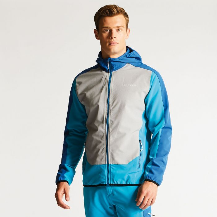 Men's Appertain Softshell Jacket Fluro Blue/National Blue
