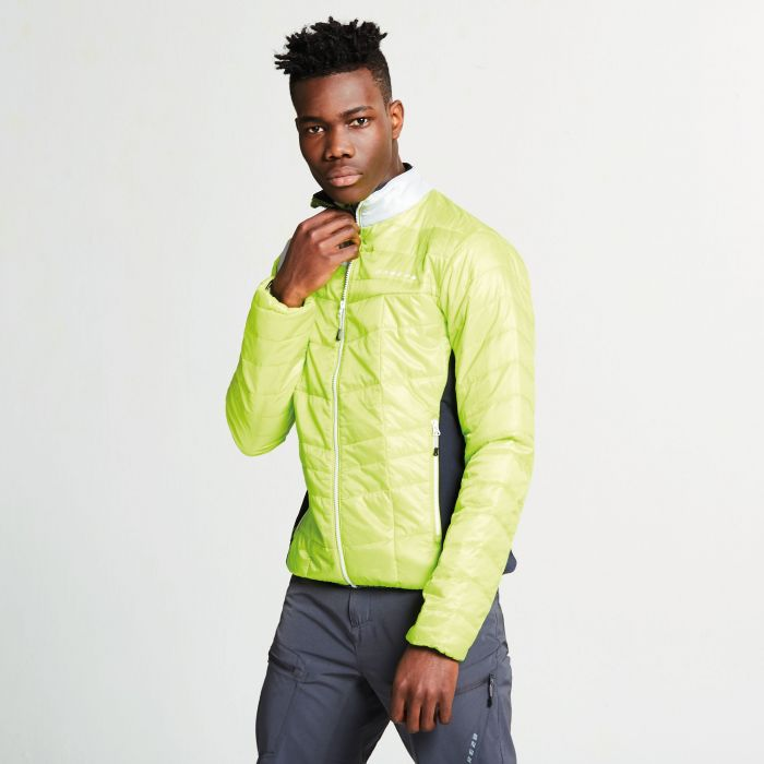 Men's Systematic Wool Insulated Jacket Electric Lime Outerspace Blue