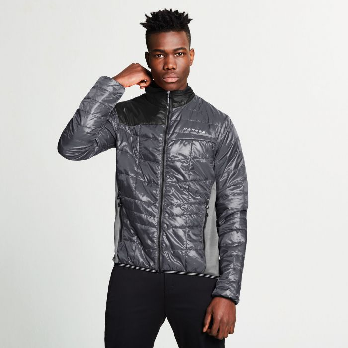 Men's Systematic Wool Insulated Jacket Ebony Grey Asteroid Grey Black
