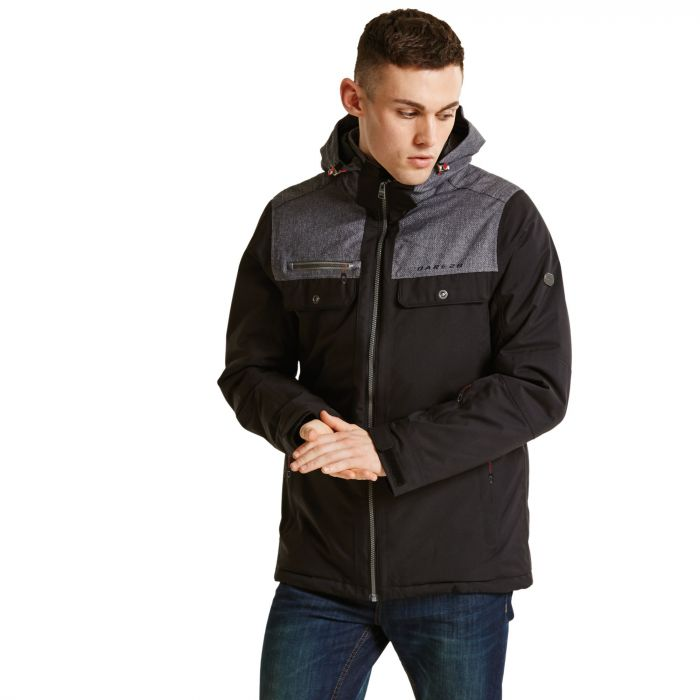 Men's Descant Ski Jacket Black/Charco