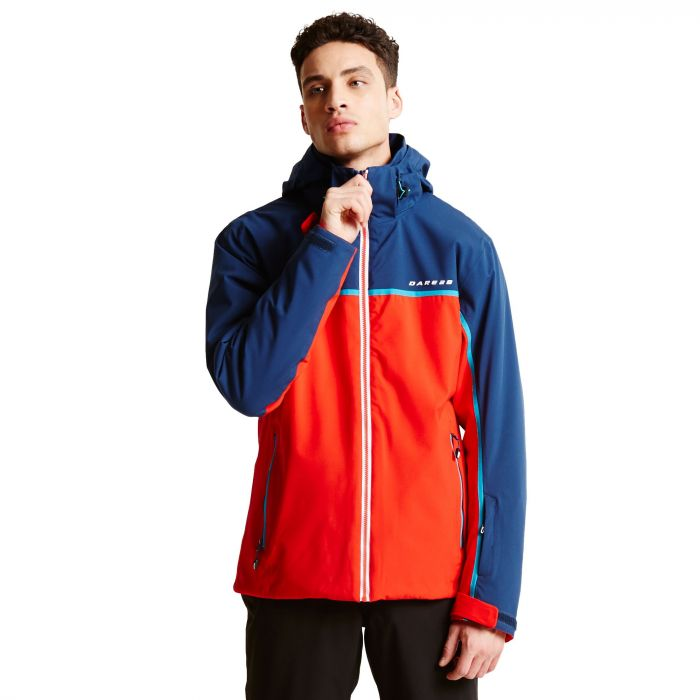 Men's Obtain Ski Jacket Seville Red Admiral Blue