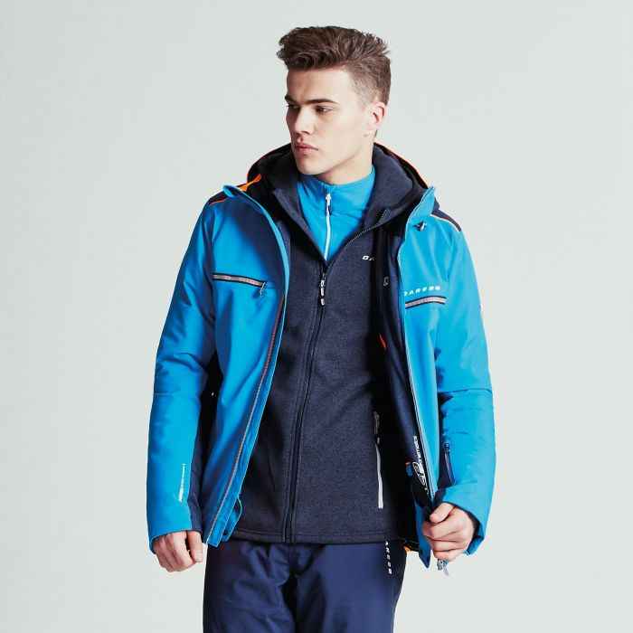 Men's Regression Ski Jacket Methyl Blue Outerspace Blue