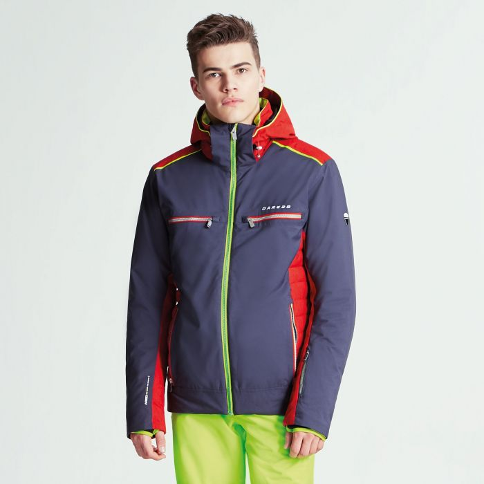 Men's Regression Ski Jacket Ebony Grey Code Red