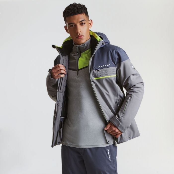 Men's Rendor Ski Jacket Asteroid Grey Ebony Grey