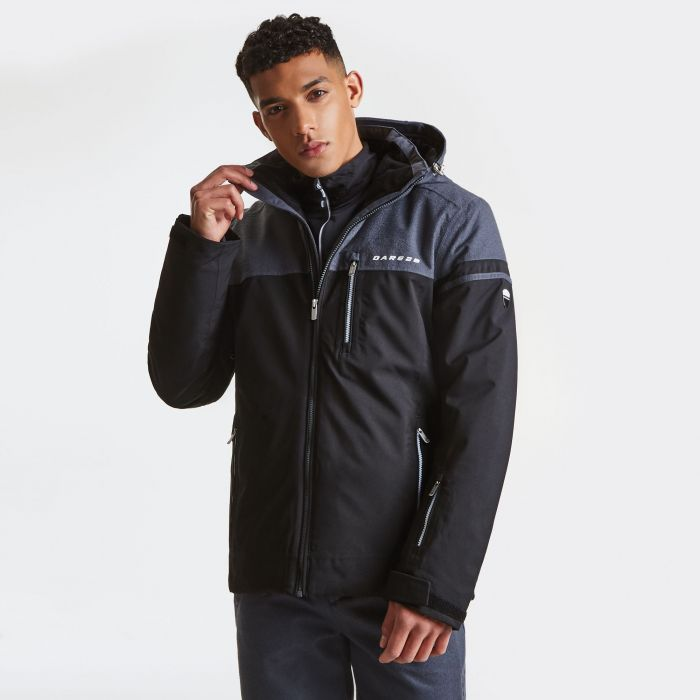 Men's Graded Ski Jacket Black Ebony Grey