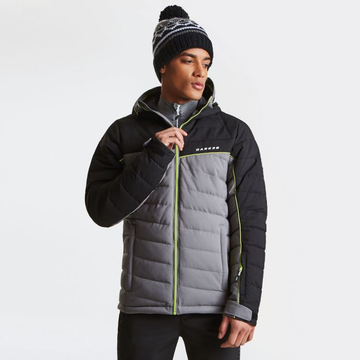 Men's Slalom Ski Jacket Asteroid Grey Black
