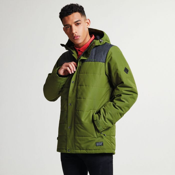 Men's Level Up Ski Jacket Mantis Green Charcoal Grey