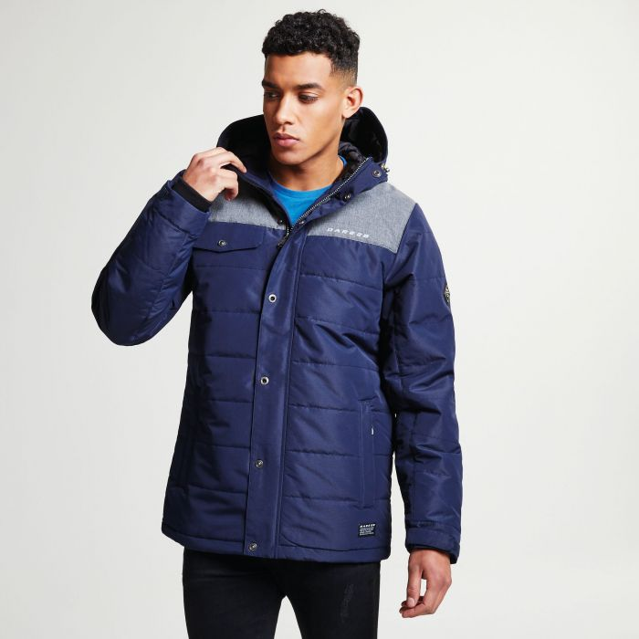 Men's Level Up Ski Jacket Outerspace Blue Asteroid Grey