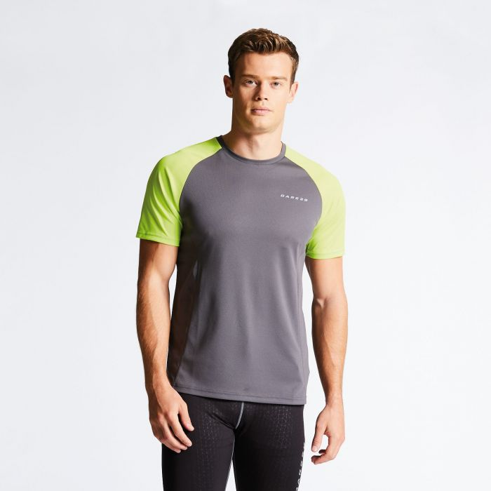 Men's Undermine Performance T-Shirt Smokey/Lime Punch