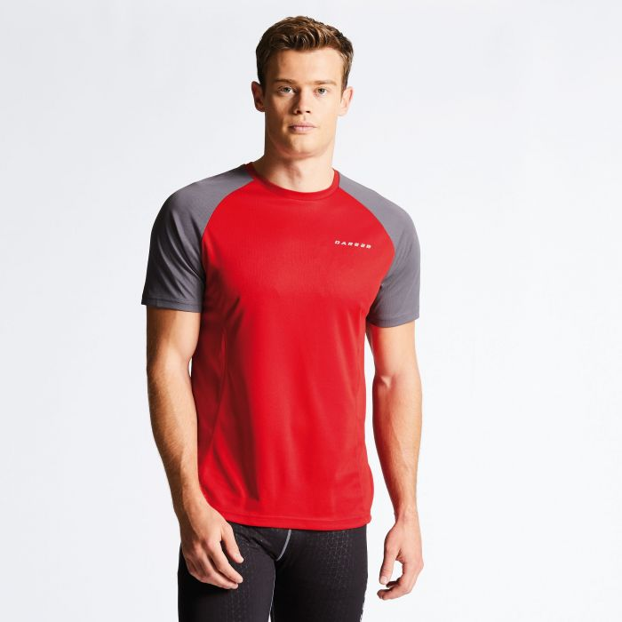 Men's Undermine Performance T-Shirt Danger Red/Smokey