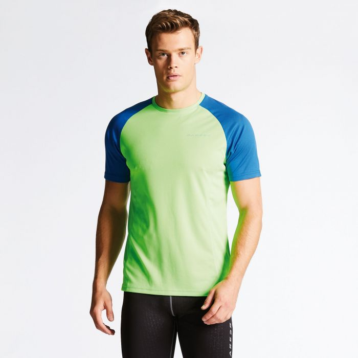 Men's Undermine Performance T-Shirt Neon Green/Blue