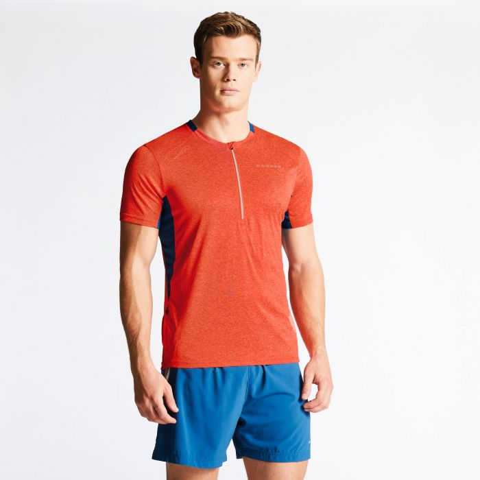 Men's Attest Workout T-Shirt Pumpkin/Kingfisher