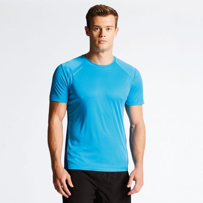 Men's Unified II Technical T-Shirt Fluro Blue/National Blue