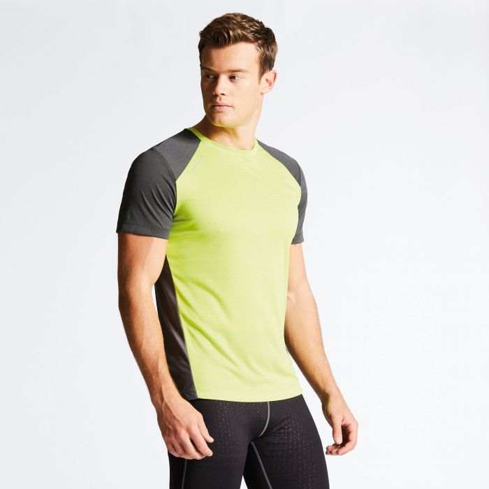 Men's Unified II Technical T-Shirt Lime Punch/Charcoal