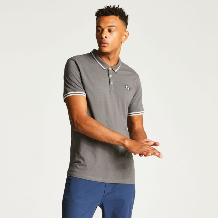 Men's Precedent Polo Shirt Smokey Grey