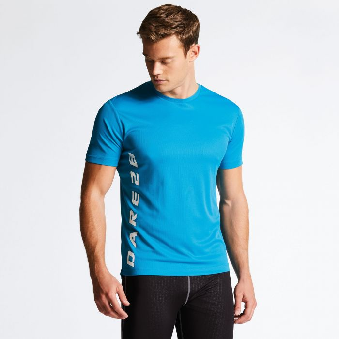 Men's Typescript T-Shirt Fluro Blue