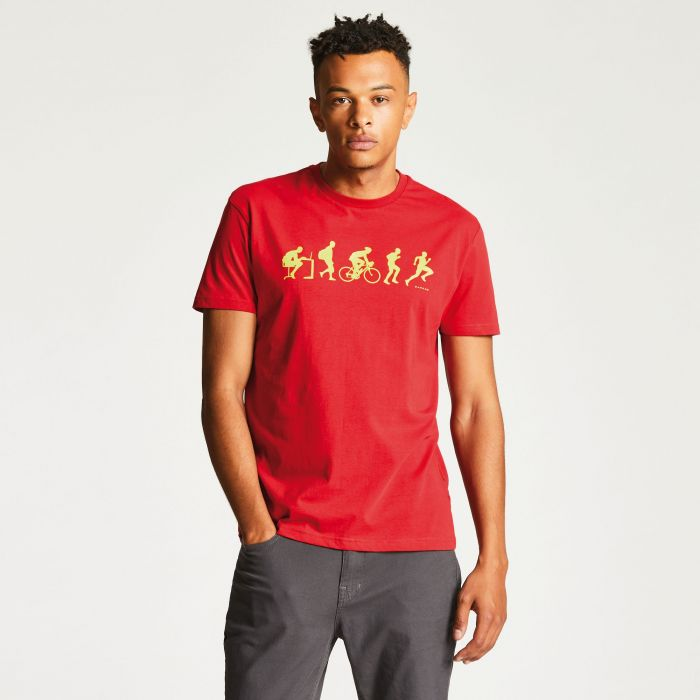 Men's Aventor Casual T-Shirt Danger Red