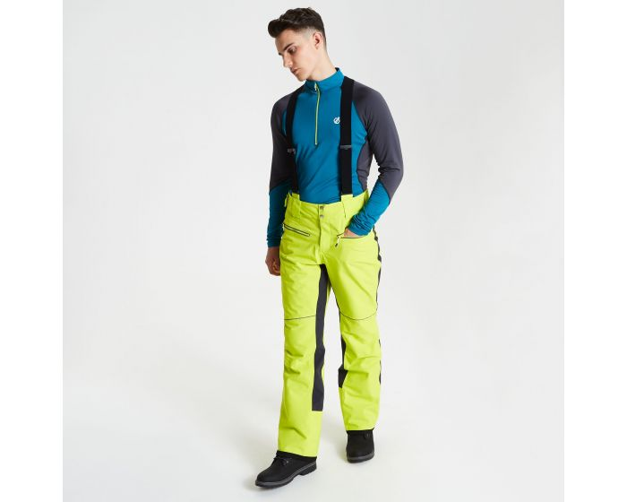 Mens Intrinsic Ski Pants Citron Lime Ebony