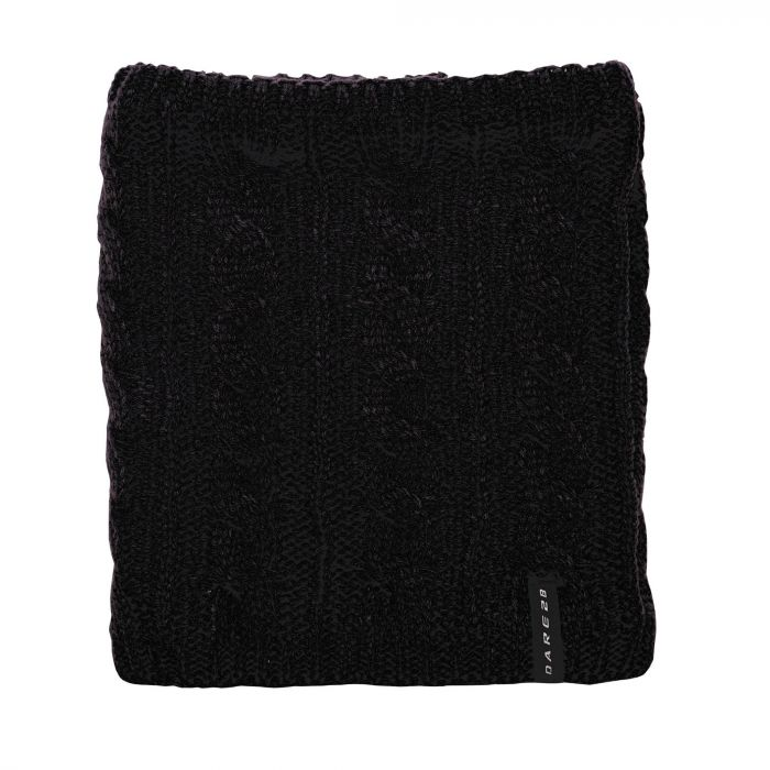 Weave Out Neck Warmer Black