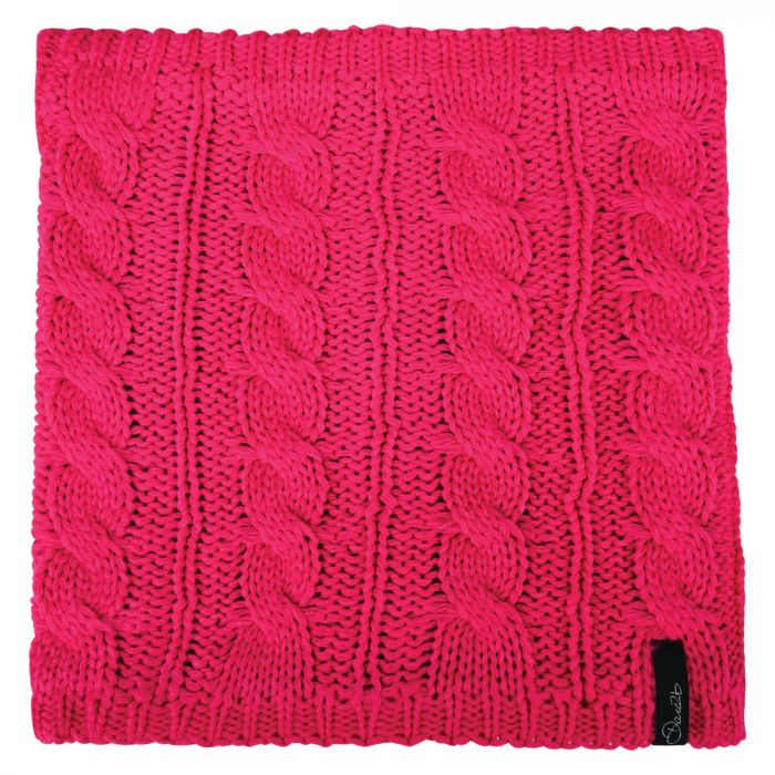 Weave Out Neck Warmer Cyber Pink