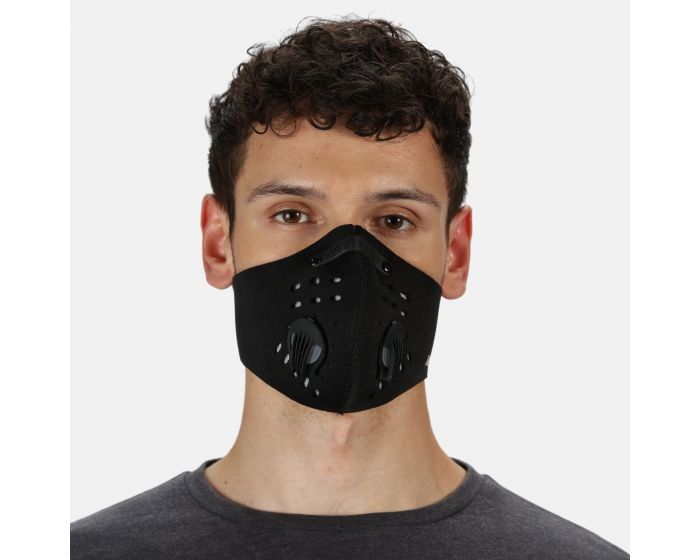 Adults Anti Pollution Sports Face Covering Black
