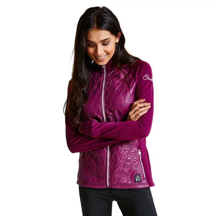 Women's Irised Core Stretch Midlayer Blackcurrant