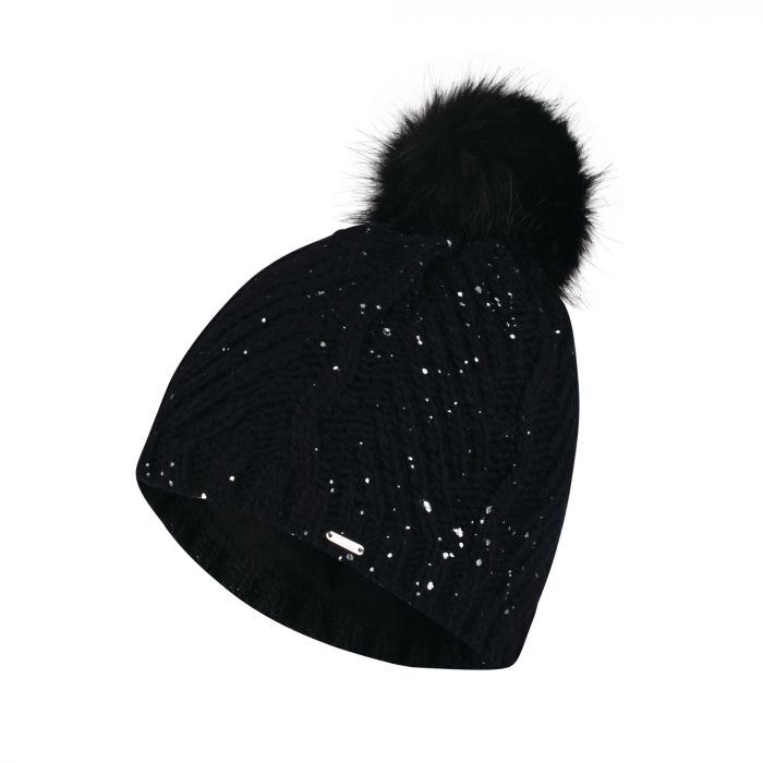 a87b43aa95e Women s Crystalized Bobble Beanie Hat Black. DWC330 800 1
