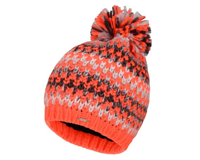Womens Headlines Bobble Hat Fiery Coral