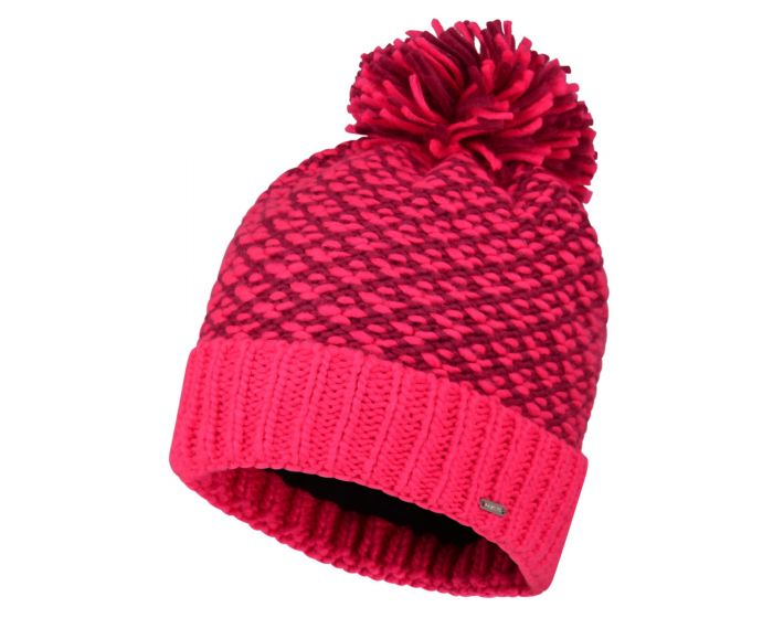 Womens Mystify Bobble Hat Cyber Pink Fuchsia