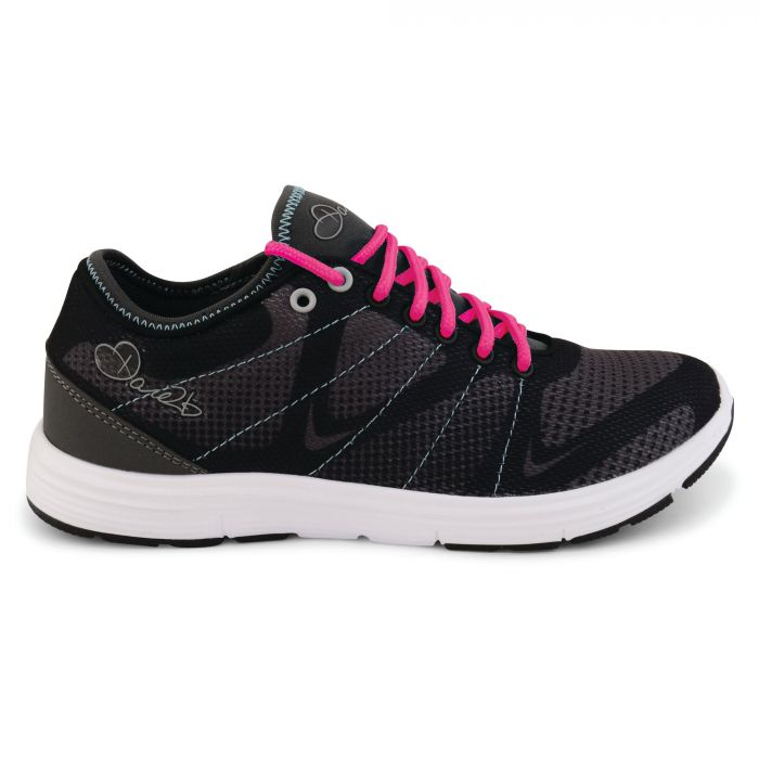 Women's Fuze Trainers Black/Neon Pink