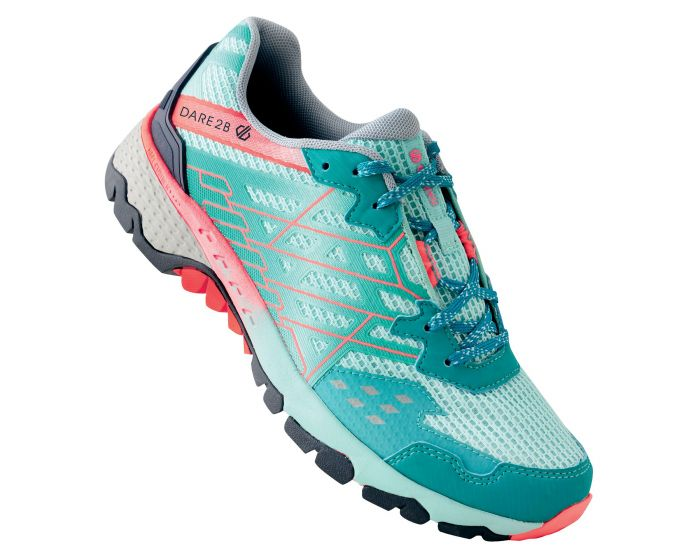 Womens Razor Ii Lightweight Trail Shoes Caribbean Green Fiery Coral