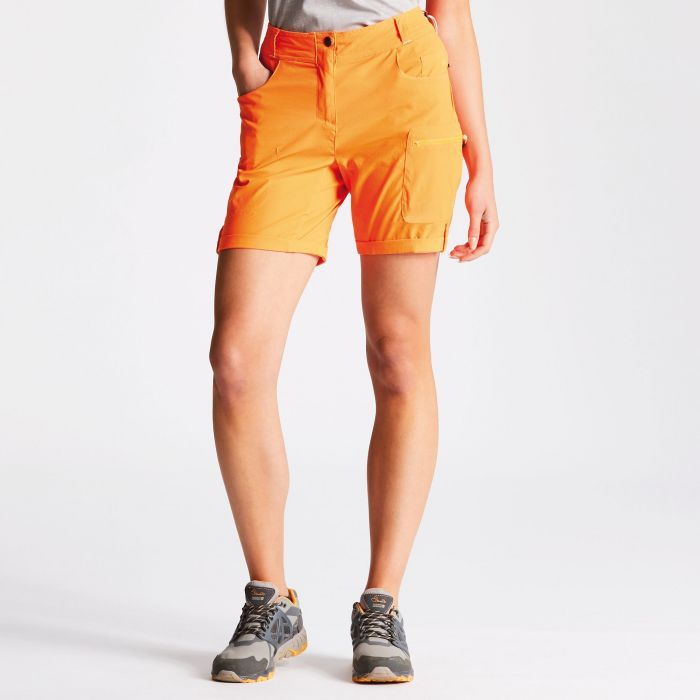 Women's Melodic Walking Shorts Shocking Orange
