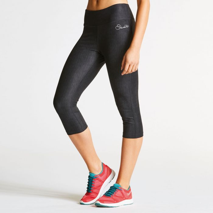 Women's Eclectic 3/4 Fitness Leggings Black