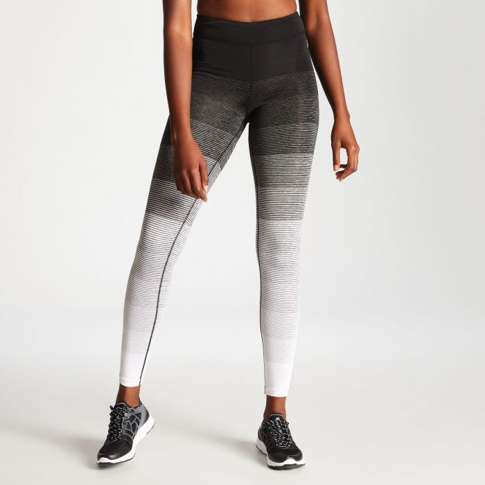 a3e17a5475ab1 Women's Gumption Print Fitness Leggings Black White Stripe. DWJ419_8K4 1