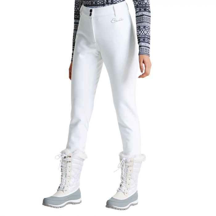 Women's Shapely Trouser Ski Pants White