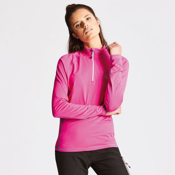 Women's Involve Core Stretch Midlayer Cyber Pink