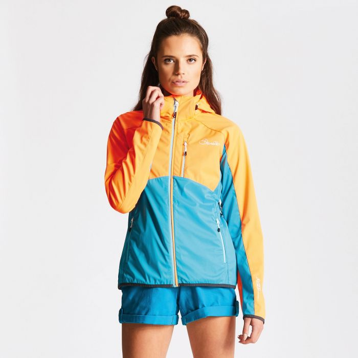 Women's Tractile Softshell Jacket Orange/Blue