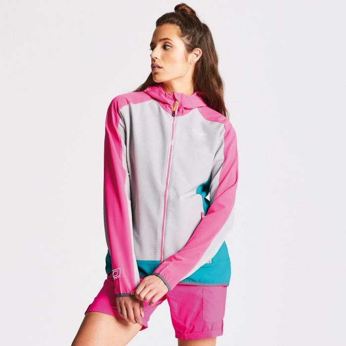 Women's Duality Softshell Jacket Cyber Pink/Ash Grey